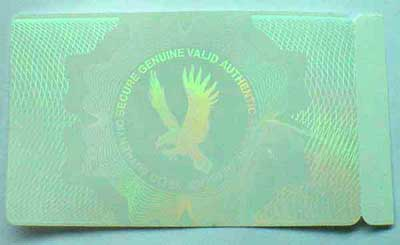 security transparent holographic ID card Samples 1